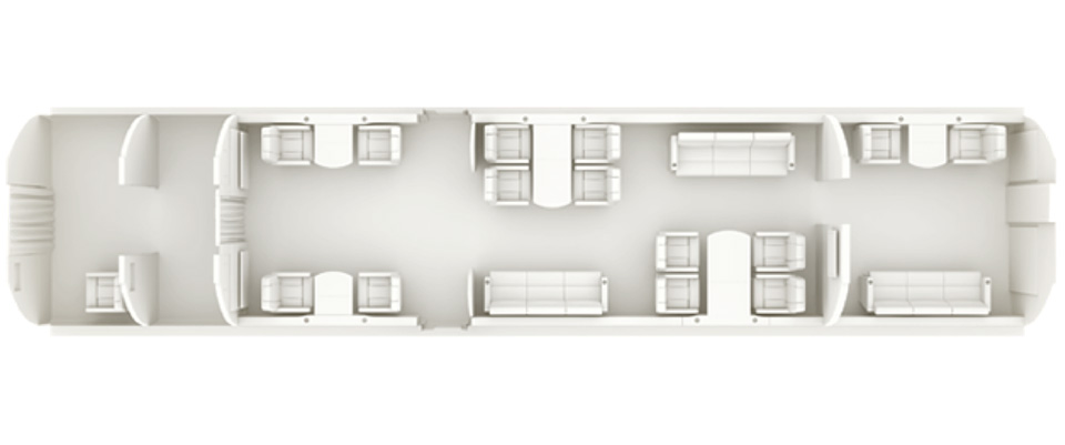 Floor plan of Airbus 318 Elite