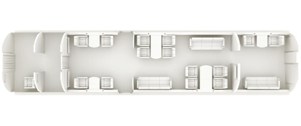 Floor plan of Airbus 318 Elite