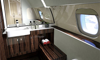 Interior of Embraer Lineage 1000