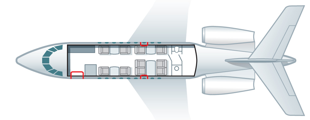Floor plan of Falcon 10