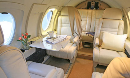 Interior of Falcon 10