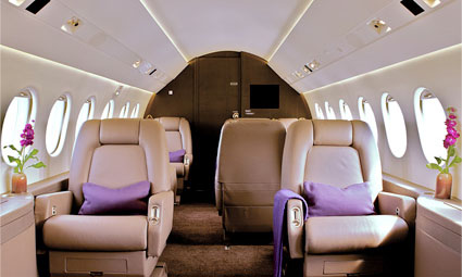 Interior of Falcon 2000