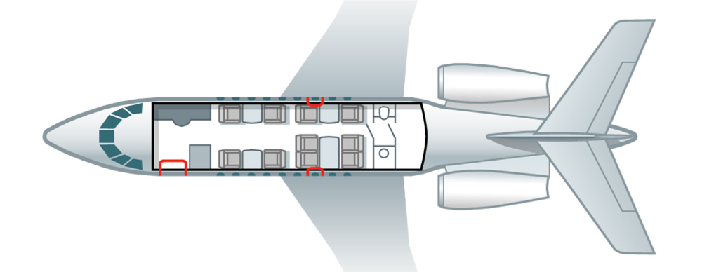 Floor plan of Falcon 2000 EX