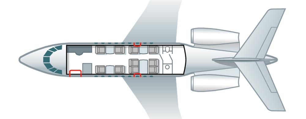 Floor plan of Falcon 2000 EX