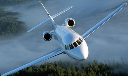 Exterior of Falcon 2000 EX