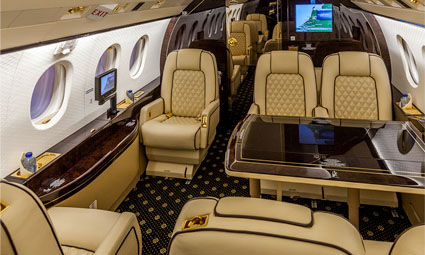Interior of Falcon 2000 EX Easy