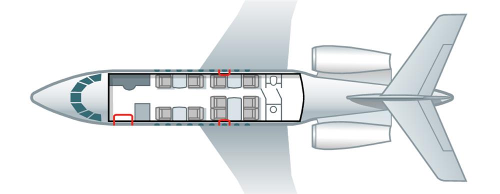 Floor plan of Falcon 2000 LX
