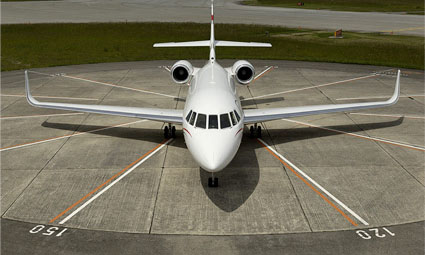 Exterior of Falcon 2000 LX