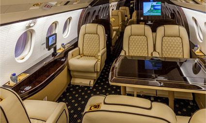 Interior of Falcon 2000 LX