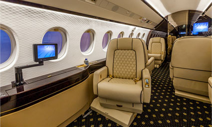 Interior of Falcon 2000 LX