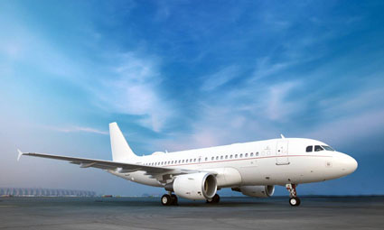 Exterior of Airbus 319 Corporate Jet