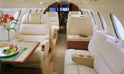Interior of Falcon 50