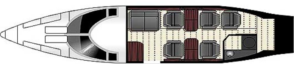 Floor plan of Falcon 50 EX