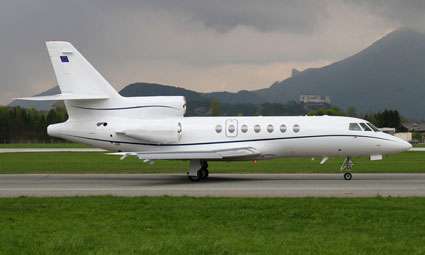 Exterior of Falcon 50 EX