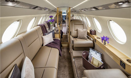 Interior of Falcon 50 EX