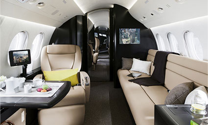Interior of Falcon 7X