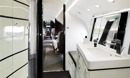 Interior of Falcon 7X