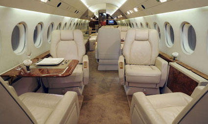Interior of Falcon 900 B