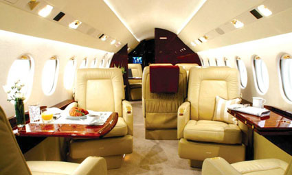 Interior of Falcon 900 DX