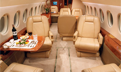 Interior of Falcon 900 EX Easy