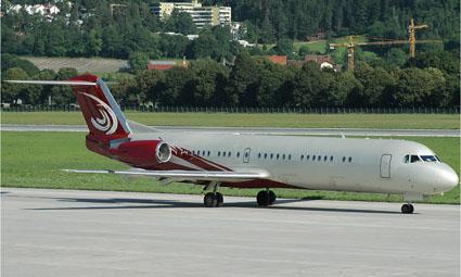 Exterior of Fokker 100 VIP