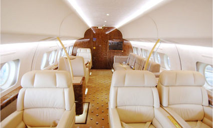Interior of Fokker 100 VIP