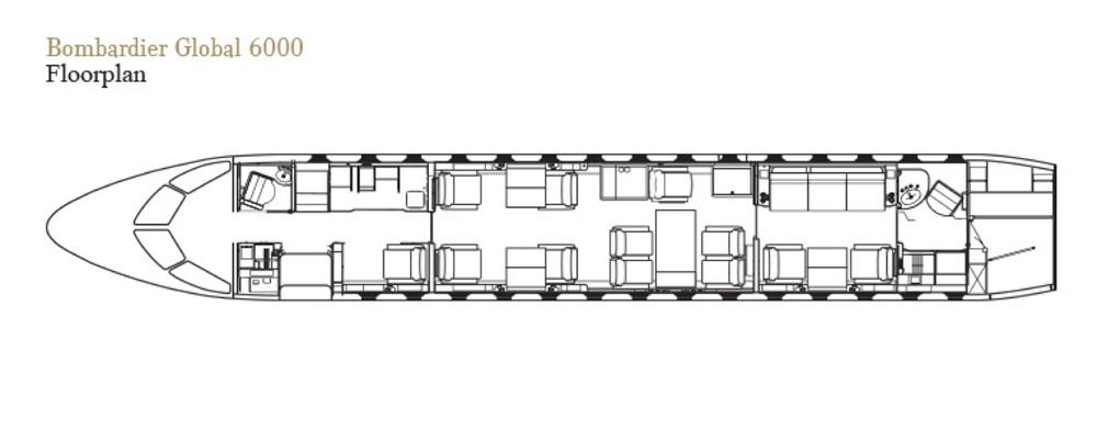 Floor plan of Global 6000