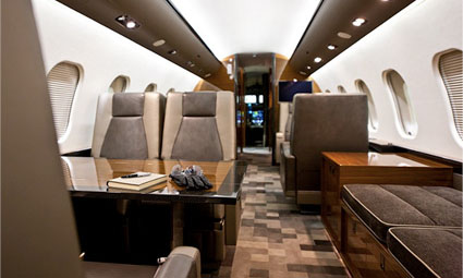 Interior of Global 6000