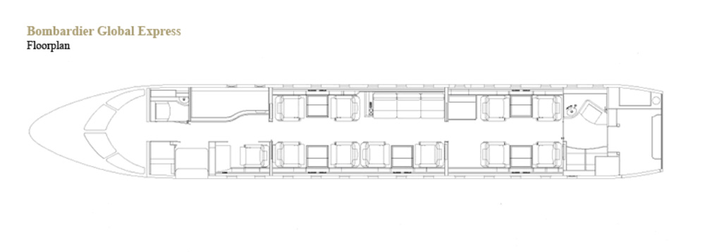 Floor plan of Global Express