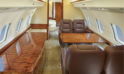 Interior of Global Express