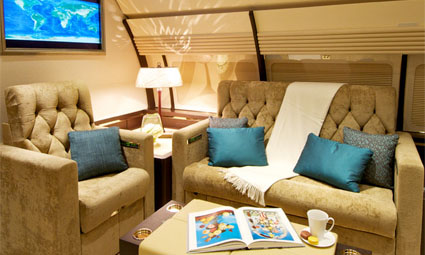 Interior of Airbus 320 Corporate Jet
