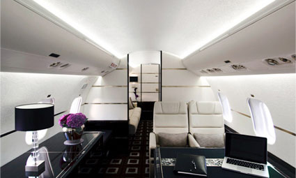 Interior of Global Express XRS