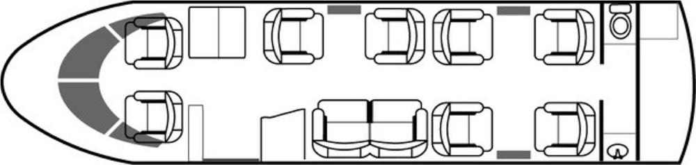 Floor plan of Gulfstream G150