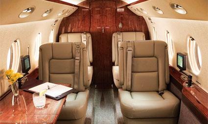 Interior of Gulfstream G150