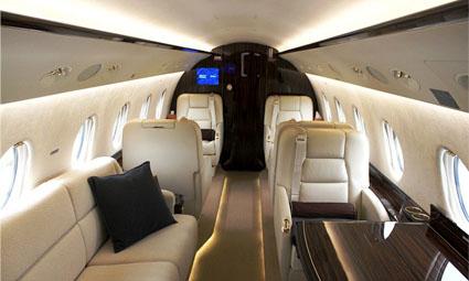 Interior of Gulfstream G200