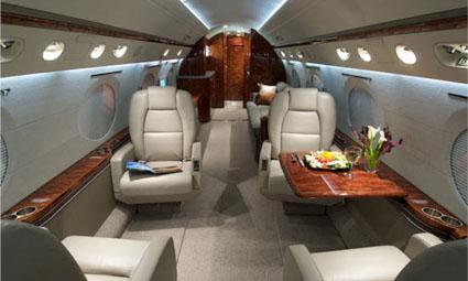 Interior of Gulfstream G300