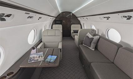 Interior of Gulfstream G450