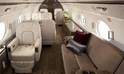 Interior of Gulfstream G550