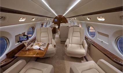 Interior of Gulfstream V