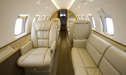 Interior of Hawker 1000