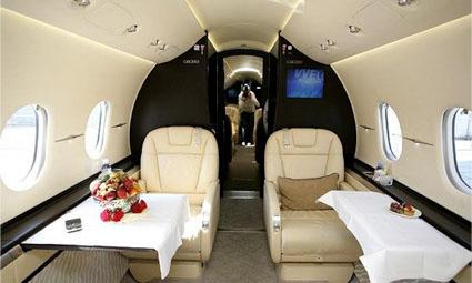 Interior of Hawker 4000