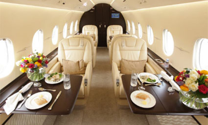 Interior of Hawker 4000