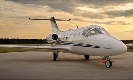 Exterior of Hawker 400 XP
