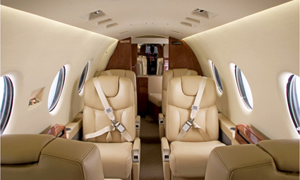 Interior of Hawker 400 XP