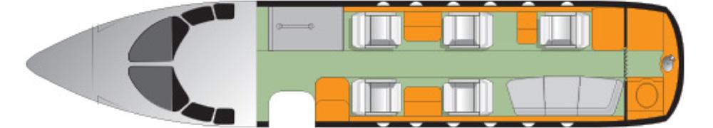 Floor plan of Hawker 750