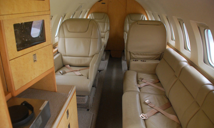 Interior of Hawker 800 A