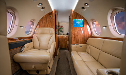 Interior of Hawker 800 XPi