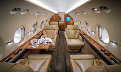 Interior of Hawker 800 XPi