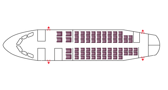 Floor plan of BAe 146-200
