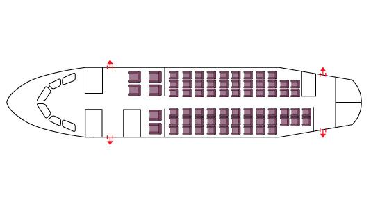 Floor plan of BAe 146-200